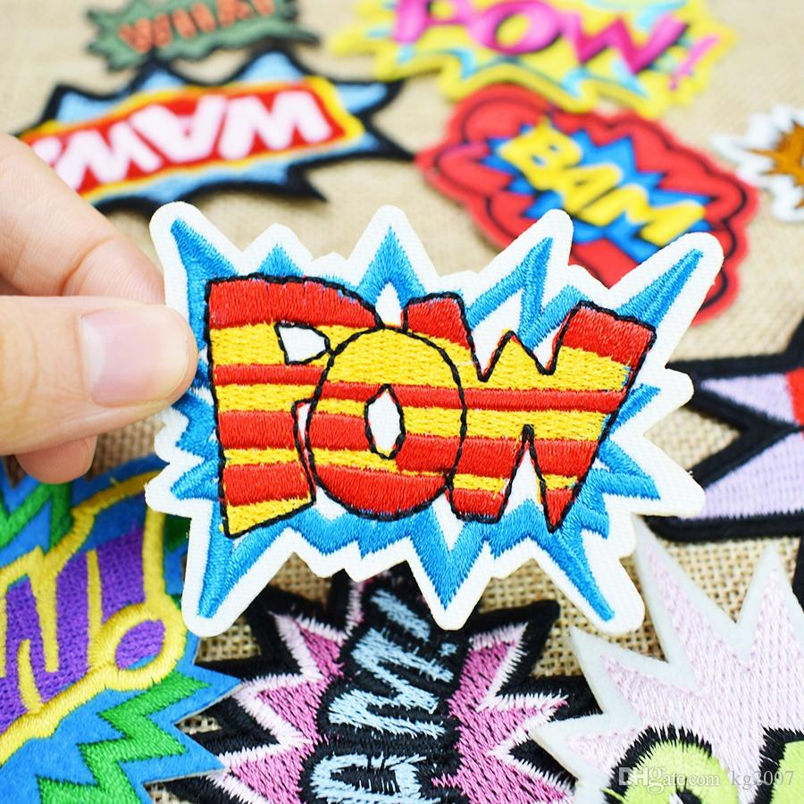 Slang Badges Embroidered Patches for Clothing Iron on Transfer Applique Patch for Bags Jeans DIY Sew on Embroidery Sticker