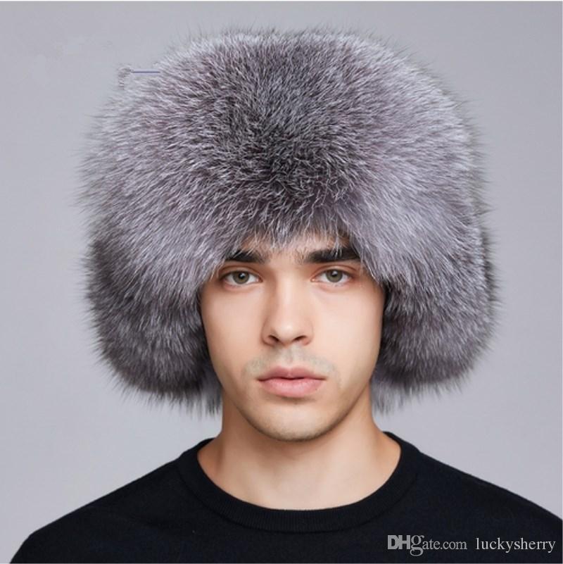 2019 LUCKYFUR Winter Hat Earflap Men Real Fox Fur Hats Men Russian Ushanka  Fur Protect Ear Warm Enough Rus Kalpak Bomber Hat FXM17505 From  Luckysherry 999b487c10eb