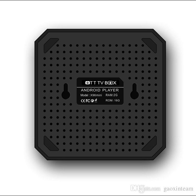 X96 مصغرة الذكية الروبوت التلفزيون مربع 2GB 16GB 2.4G واي فاي وسائل الإعلام لاعب Amlogic S905W رباعية النواة مجموعة أعلى الصناديق