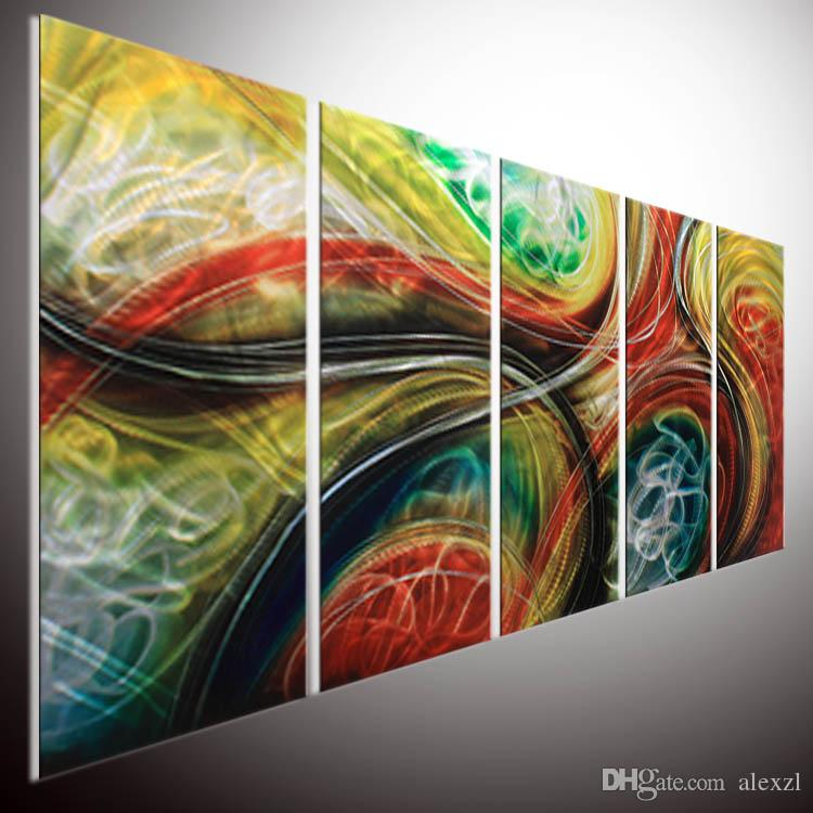 2018 Contemporary Abstract Painting Abstract Wall Art Metal Wall Art ...