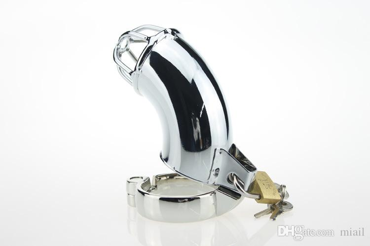 Prevent masturbation Metal Cock Cage,Male Kirsite Lockable Chastity Devices Chastity Belt Sex Toys Penis Lock chastity cage,Cock Ring