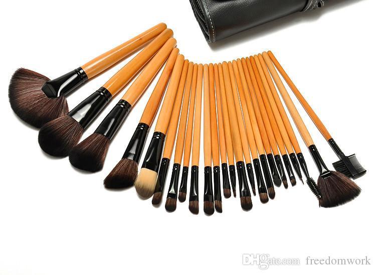 Vendita CALDA professionista 32 di trucco dei pc Brush2016 vendita CALDA professionale 24 pezzi Set strumenti trucco da toeletta del corredo delle lane di marca compongono l'insieme di spazzola