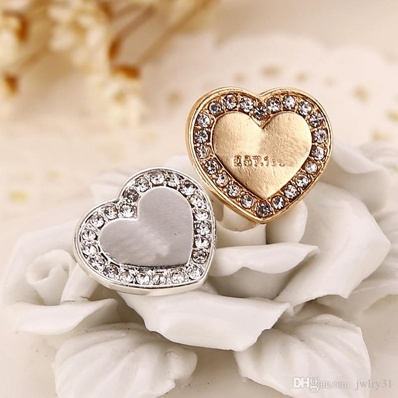 New Wholesale Earing Fashion Jewelry Brand Design Heart Silver Gold Rose Gold Stud Earrings For Women Crystal Earings