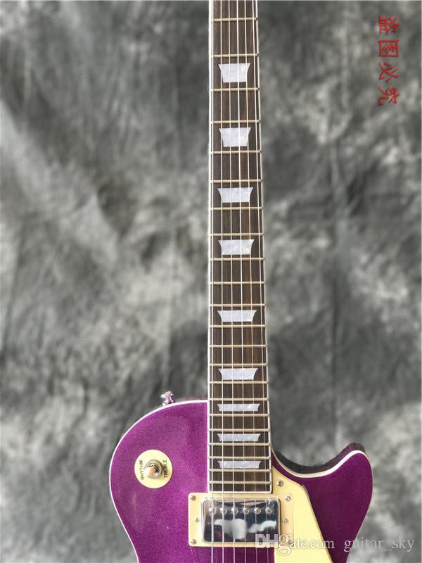 nuove chitarre elettriche di alta qualità personalizzate completano la Cina con la fabbrica di chitarre metalliche viola! guitarra di vendita calda