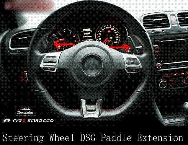 CARBON FIBRE STEERING WHEEL SHIFT PADDLE Extensions x 2 for VOLKSWAGEN VW  GOLF MK5 MK6 GTI R20 DSG PASSAT R36 JETTA SCIROCCO EOS