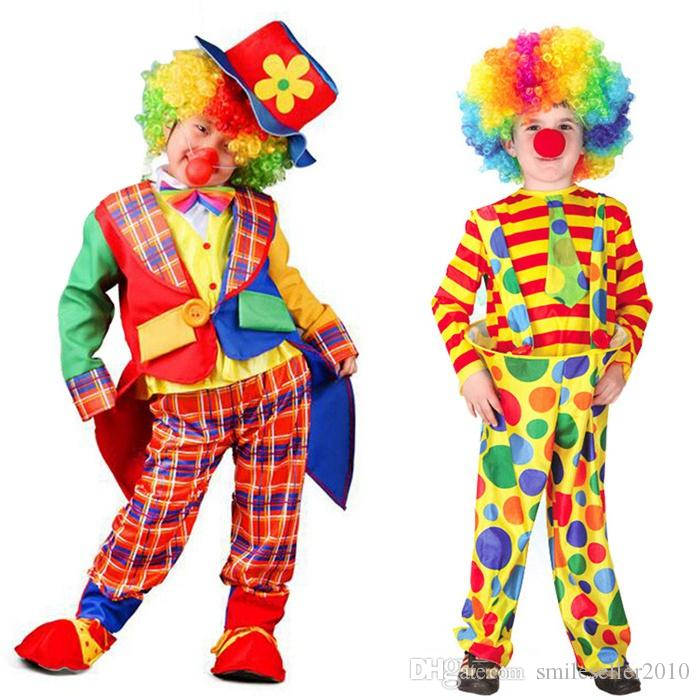 High Quality Cute Kids Circus Clown Costumes Boys Girls Performance Clothes Naughty Cosplay Clothing Wear SW0310 Halloween Costume Halloween Costumes ...  sc 1 st  DHgate.com & High Quality Cute Kids Circus Clown Costumes Boys Girls Performance ...