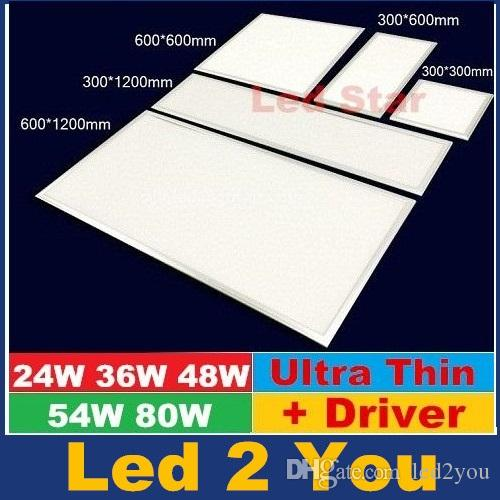 ultrathin led panel light 6001200mm 24w 36w 48w 54w 80w kitchen bathroom led ceiling panel lights ac 110 240v from led2you