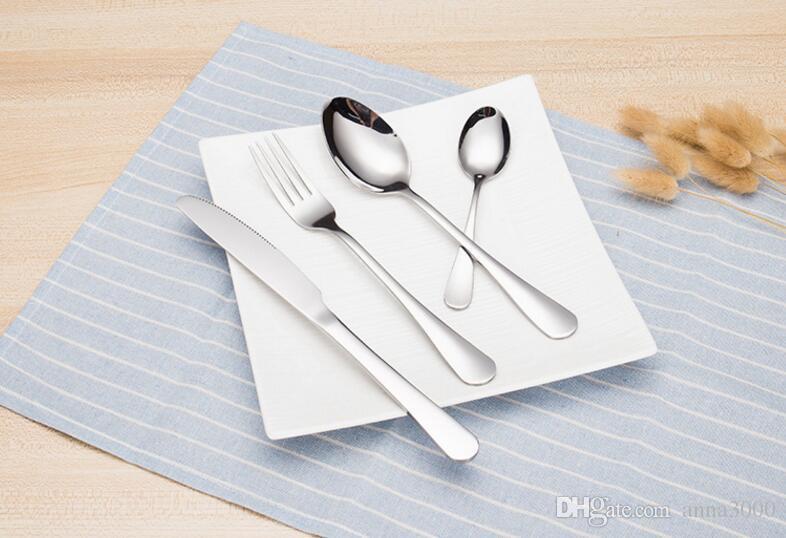 Vajilla de acero inoxidable, bistec de estilo occidental, cubiertos, vajilla de hotel, cuchillo de acero inoxidable y cuchara de tenedor