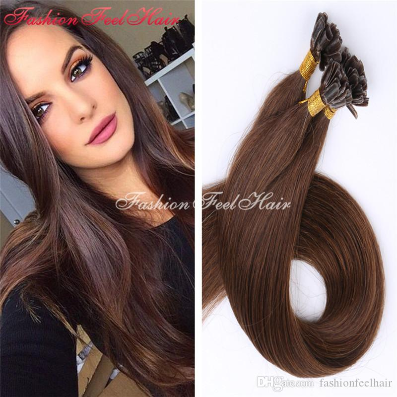 Fusion Hair Extension 8a Grade Keratin U Tip Brazilian Hair