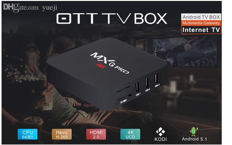 Android Tv Mxq Pro 5 Stücke Dhl Amlogic S905 Ott Tv Box Android 51