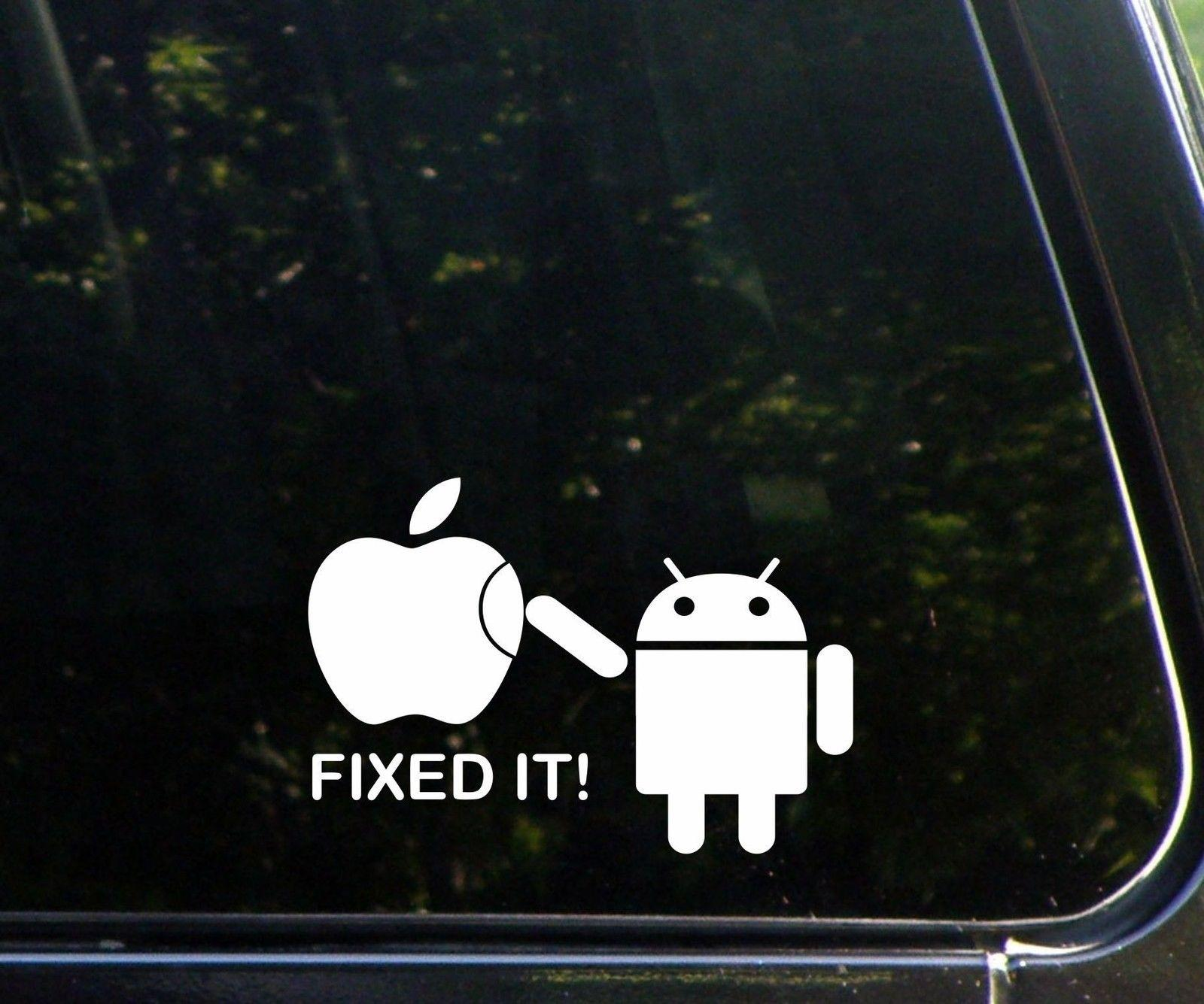 2019 android fixed it funny car window wall decal sticker apple from mysticker 4 36 dhgate com
