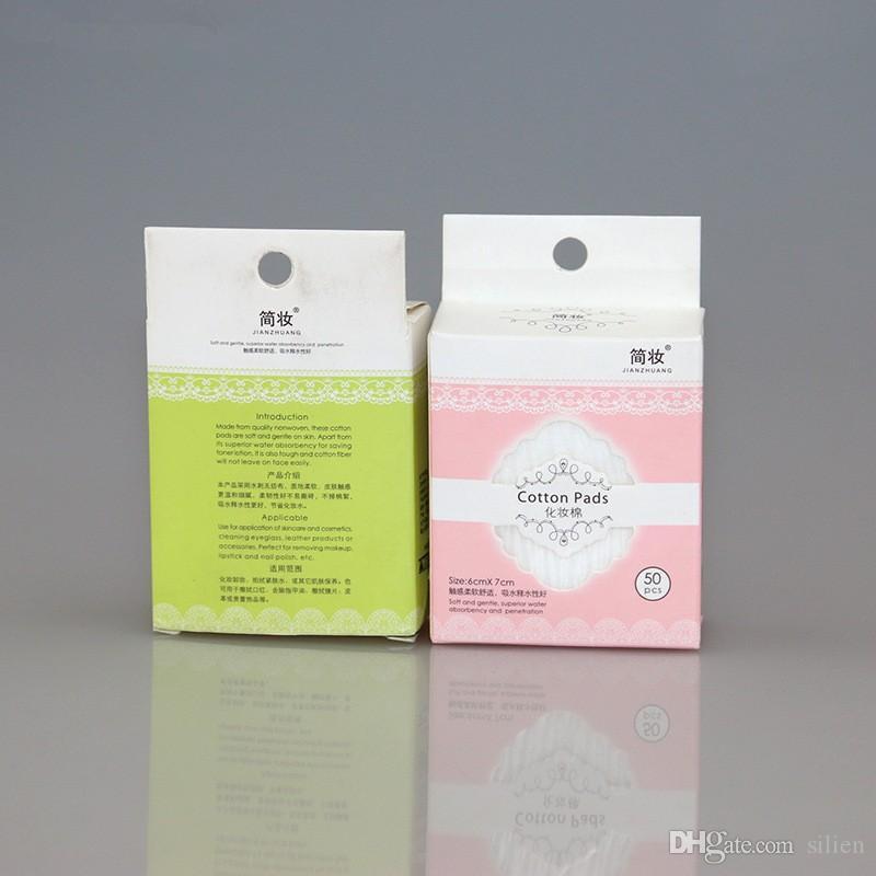 Großhandel - Wholesale-Frauen Pro Make-up Kosmetik Tiefe Gesichtsreinigung Weiche Wattepads Entferner Wischtücher Reines Papier bilden Nagel / lo