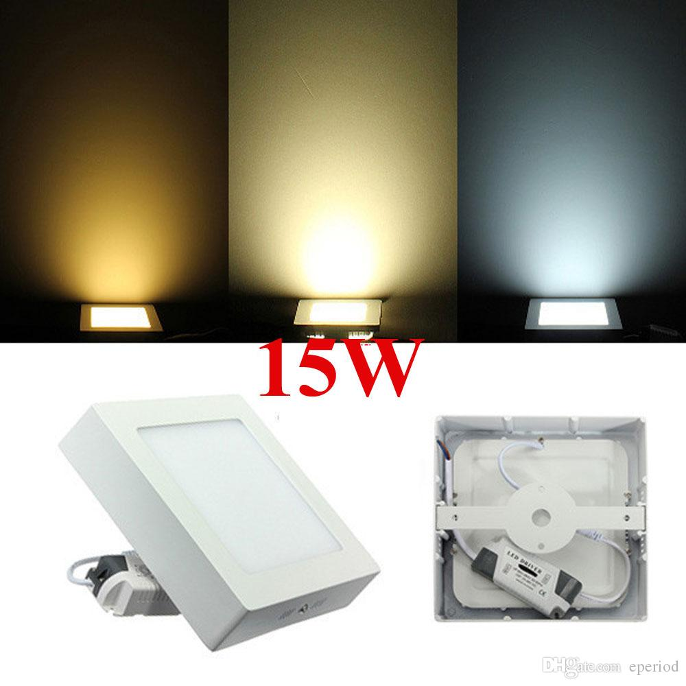 Discount LED Panel lights dimmable Round / Square 9W 15W 21W Surface Mounted Led Downlight lighting Led ceiling down spotlight + Drivers