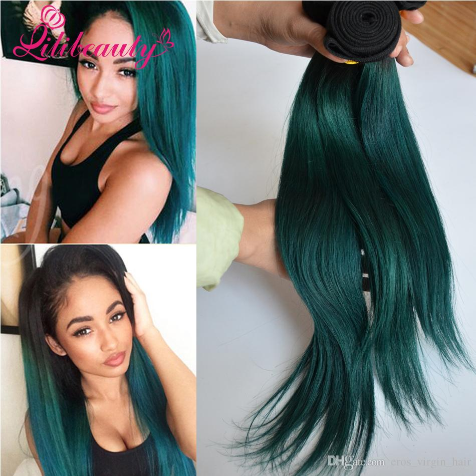 1b Green Ombre Hair Extensions 8a Ombre Brazilian Human Hair Weave