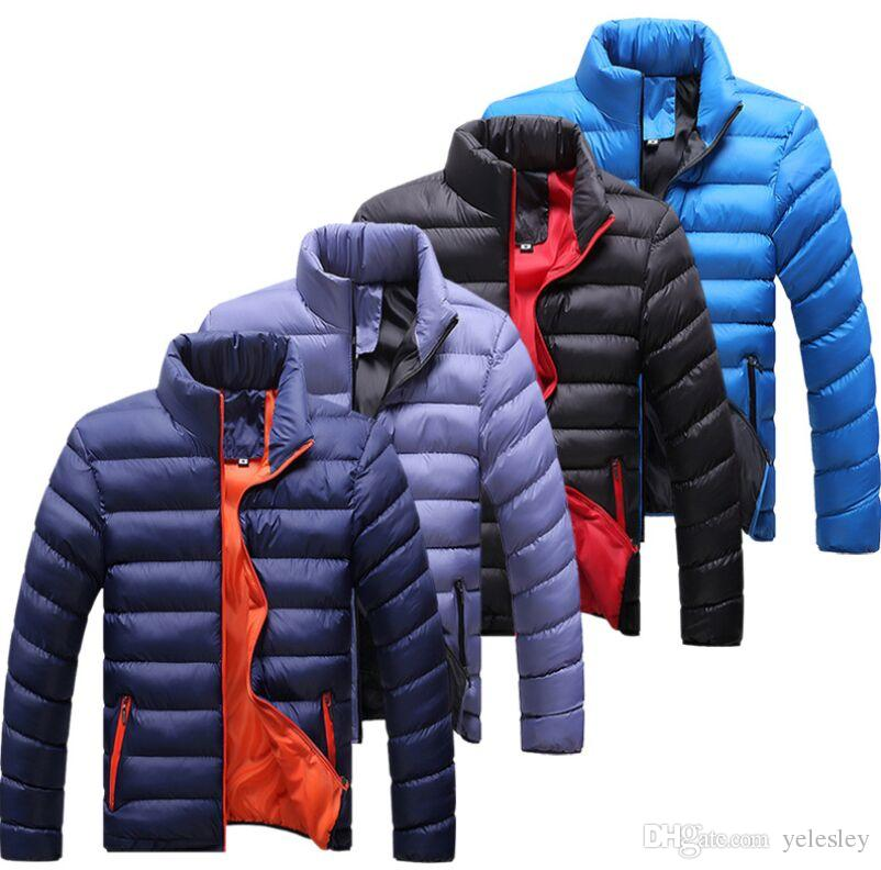 New Winter Jacket Men 2016 Men Cotton Blend Coats Zipper Mens Jacket Casual Thick Outwear For Men 4XL Clothing Male