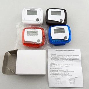 2016 뜨거운 건강 선물 LCD 보수계 스텝 카운터 MINI 칼로리 카운터 도보 계 도보 거리 신 포켓 5 색 무료 배송