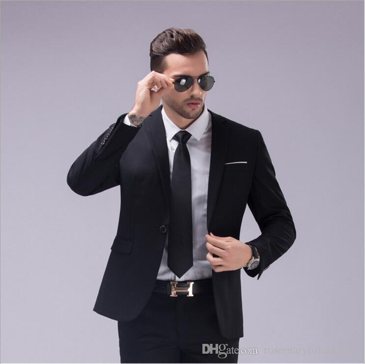 2fd60aede5 Two Color Two Style Fashion Wedding Tuxedos Two Pieces Groomsmen Best Man  Suits Classic Men s Groom Wear Jacket+Pants ZD4 Wedding Tuxedos Men Suits  Groom ...