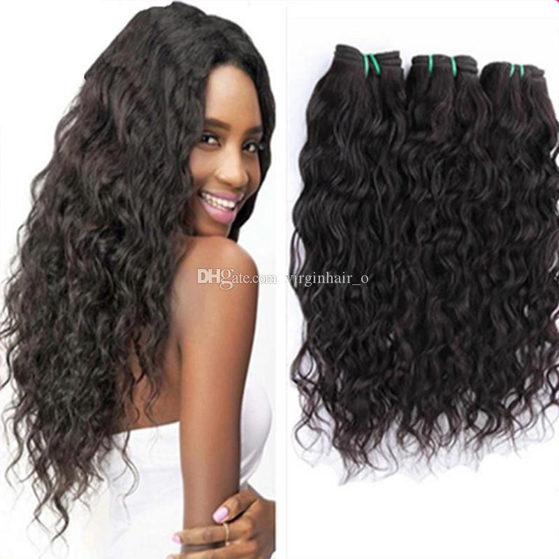 Brazilian Human Hair Weave Natural Water Wave 100g Bundles