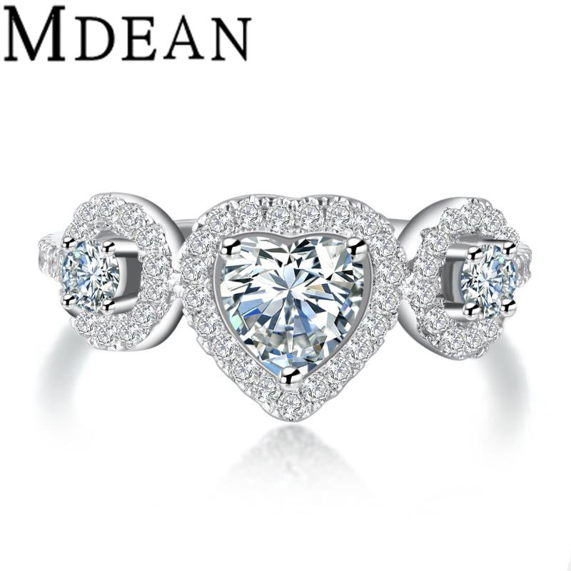 Best Brilliant Heart Cut Simulated Diamond Wedding Engagement Ring