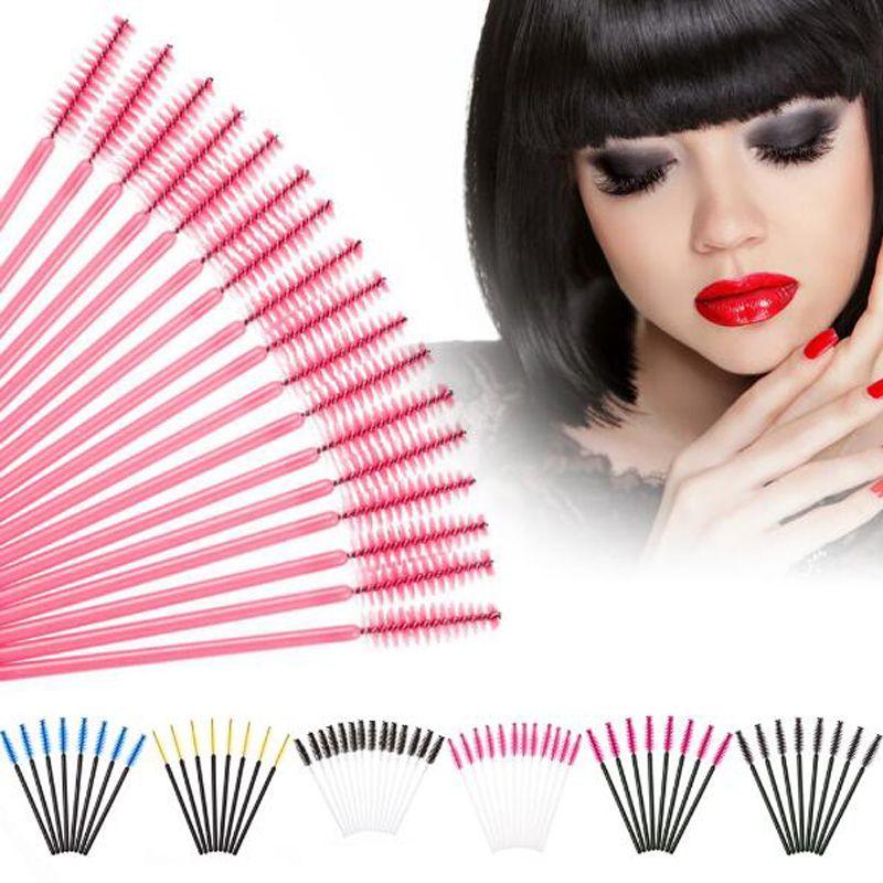 Brosses à cils jetables Mascara Baguettes Applicateur Baguette Brosses Cils Brosse Brosses Spoolers Maquillage Outil Kit / Pack