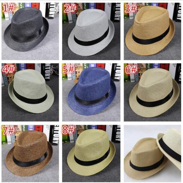4d2d3b89a1f Fashion Men Women Straw Hats Soft Fedora Panama Hats Outdoor Stingy ...