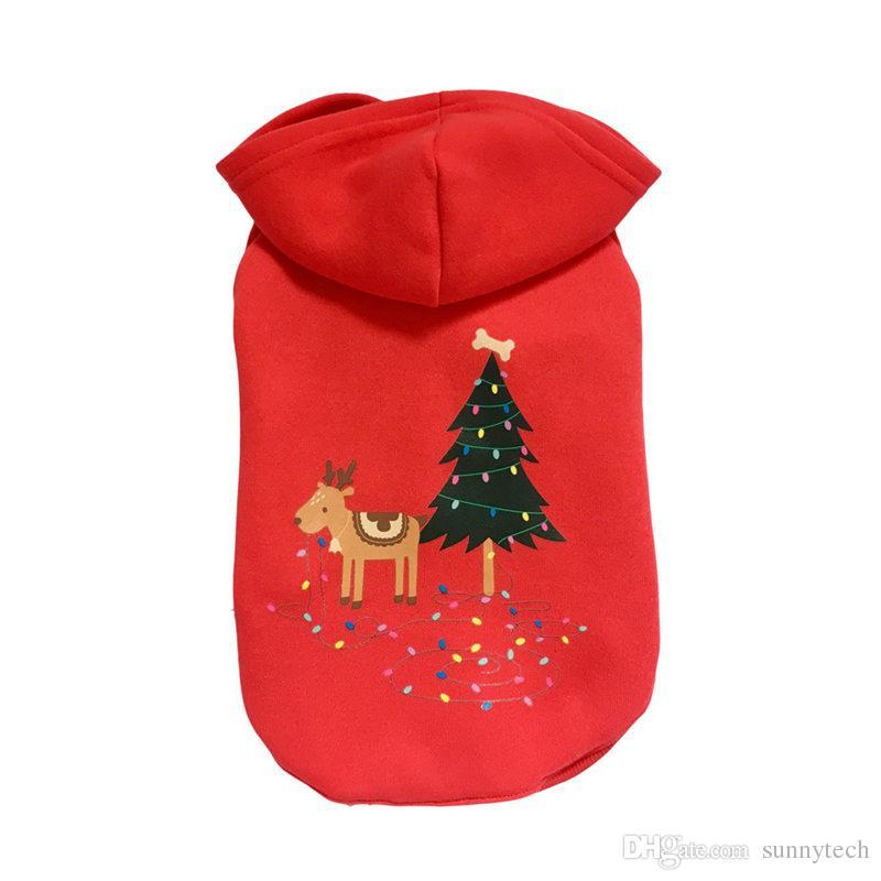 Hochwertige Haustier Hund Weihnachten Kleidung Outwear Mantel Bekleidung Hoodie Haustier Kleidung Für Kleinen Hund F20171839