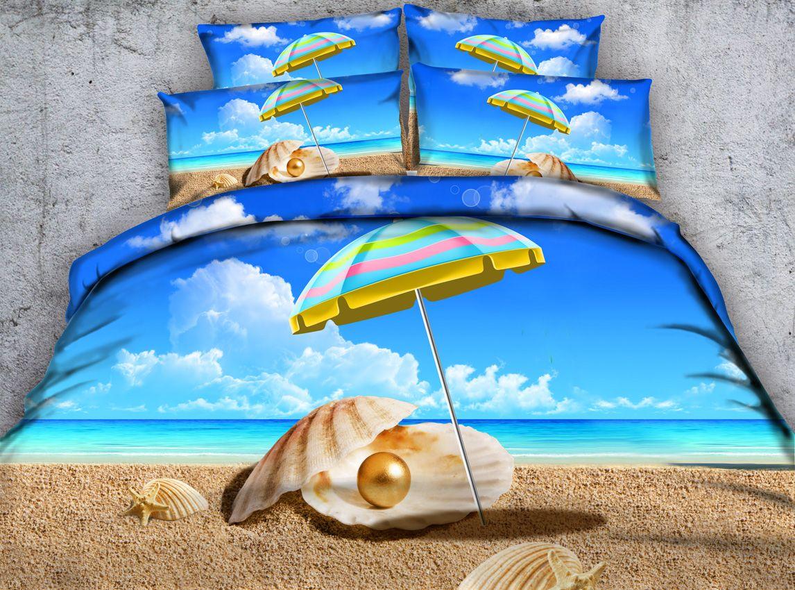 Moon And Ocean Duvet Cover Set Bed Spread 3d Print Bedlinen Soft Blue Bedding Set Twin Full Queen Size Comfortet Bedding Sets Big Clearance Sale Power Source