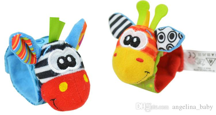 Yeni varış sozzy Bilek çıngırak ayak bulucu Bebek oyuncakları Bebek Çıngırak Çorap Lamaze Bebek Çıngırak Çorap ve bilekliği 3 Stilleri