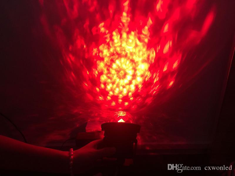 Projecteur laser à effet d'ondulation de l'eau Vague d'océan LED lumière d'étape DJ Disco Éclairage stroboscopique avec télécommande pour Bar Home Party KTV Clubs de mariage