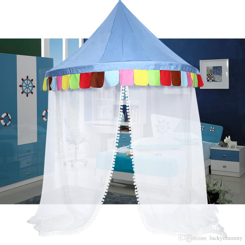 Bed Canopy Round Hoop Netting Children Play Tent For Girls Kids Play