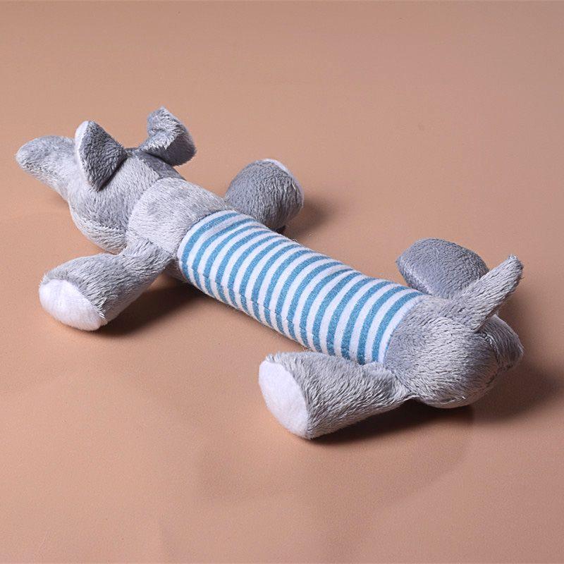 Brinquedo bonito do cão de estimação do filhote de cachorro de pelúcia Som Chew Squeaker Squeaky Pig Elephant Duck Brinquedos animal de estimação adorável Brinquedos
