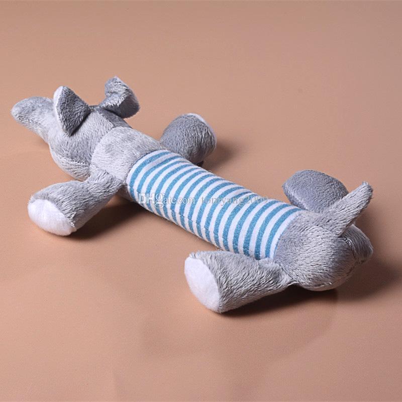 Cachorro quente Brinquedo Filhote de Cachorro Do Animal de Estimação Plush Som Chew Squeaky Squeaky Porco Elefante Pato Brinquedos Bonito Pet Brinquedos YC0042