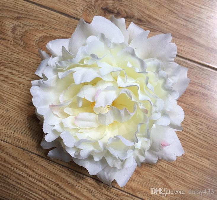 Haute qualité 15 cm Soie Pivoine Fleur Têtes De Fête De Mariage Décoration Simulation Artificielle Soie Pivoine Camélia Rose Fleur