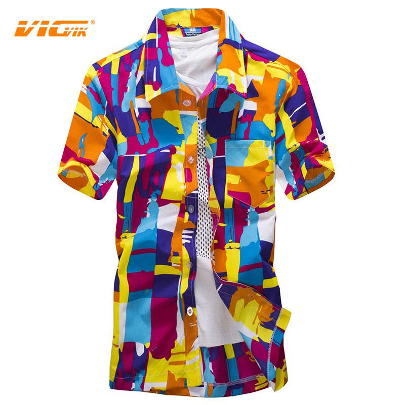 fd23e82a4a Wholesale- VICVIK Brand Mens Social Shirt Short Sleeve Summer Linen ...