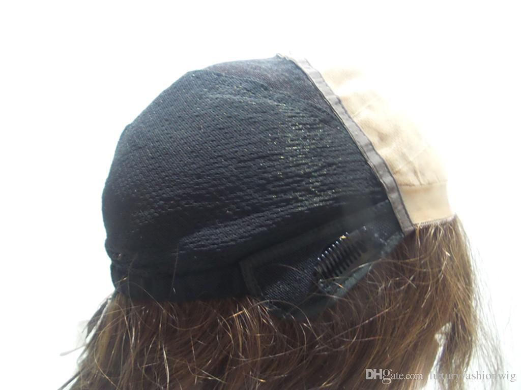 Straight hair PND Tail-On Brown Wig Italian Yaki Among European Remy Hair I Lace/Full Lace Wig Front Part Of The Black Women Kabell Wigs