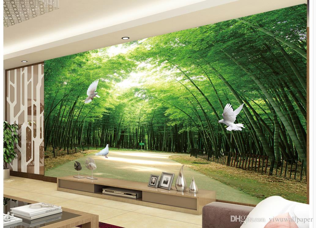 Custom 3d Wallpaper High End Atmosphere Of Fresh Bamboo Forest Shock
