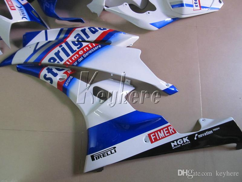 Kit carene iniezione Yamaha YZF R6 07 08 carenature bianche blu serie yzf R6 2007 2008 IY11