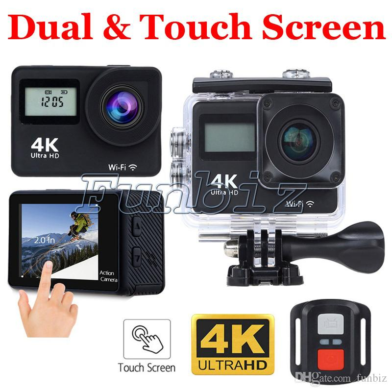 Touch Screen Ultra 4K Wifi Sport Camera 2 Inch Dual Screen H9T 2.4G