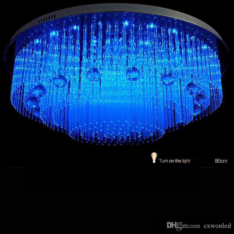 Modern LED Kristal Avize aydınlatma Plaj Ev Yatak Odası Yemek Odası Için, AC110-240V LED Kristal Tavan Lambaları Fikstür