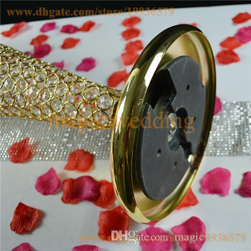 Veri fiori di tromba in metilene con perline di cristallo Vasi in oro argento decorazioni da tavola centrotavola matrimoni