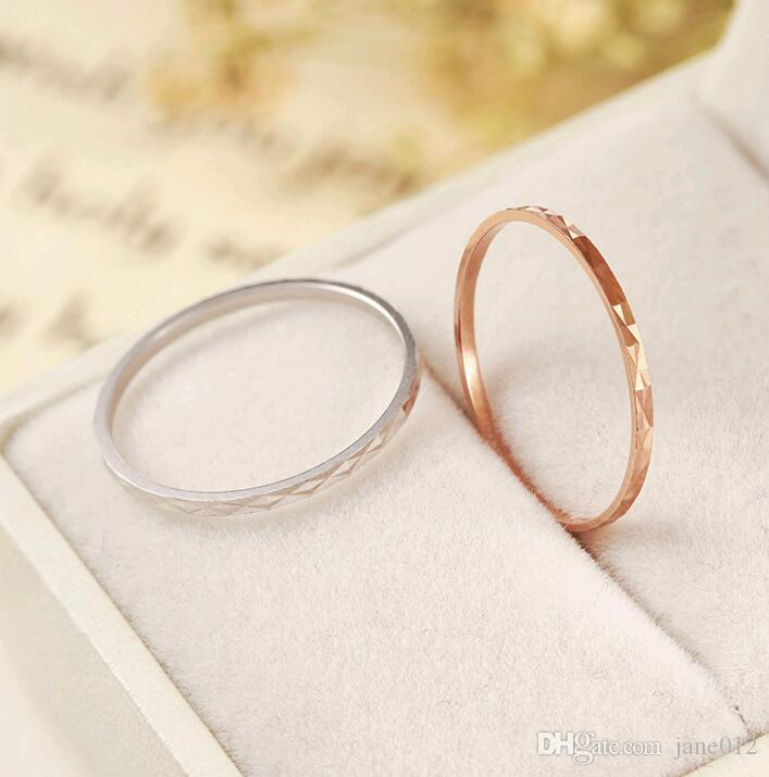 Simple Korean Thin Knuckle Ring Band Jewelry S925 Sterling Silver Index Pinky Finger Rings Silver Rose Gold Mix size