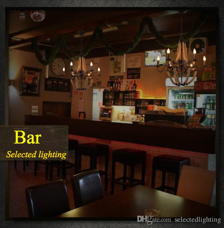 Luxe Rétro Corde Industrielle Pendentif Lumières Edison Vintage Restaurant Vivre bar Lumière Style Américain Nordic Appareils D'éclairage