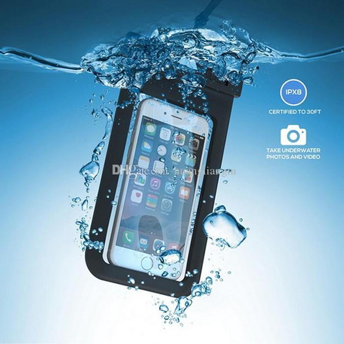 Sac sec étui étanche sac PVC de protection universel sac de téléphone avec des sacs de boussole pour la natation de plongée pour téléphone intelligent jusqu'à 5,8 pouces
