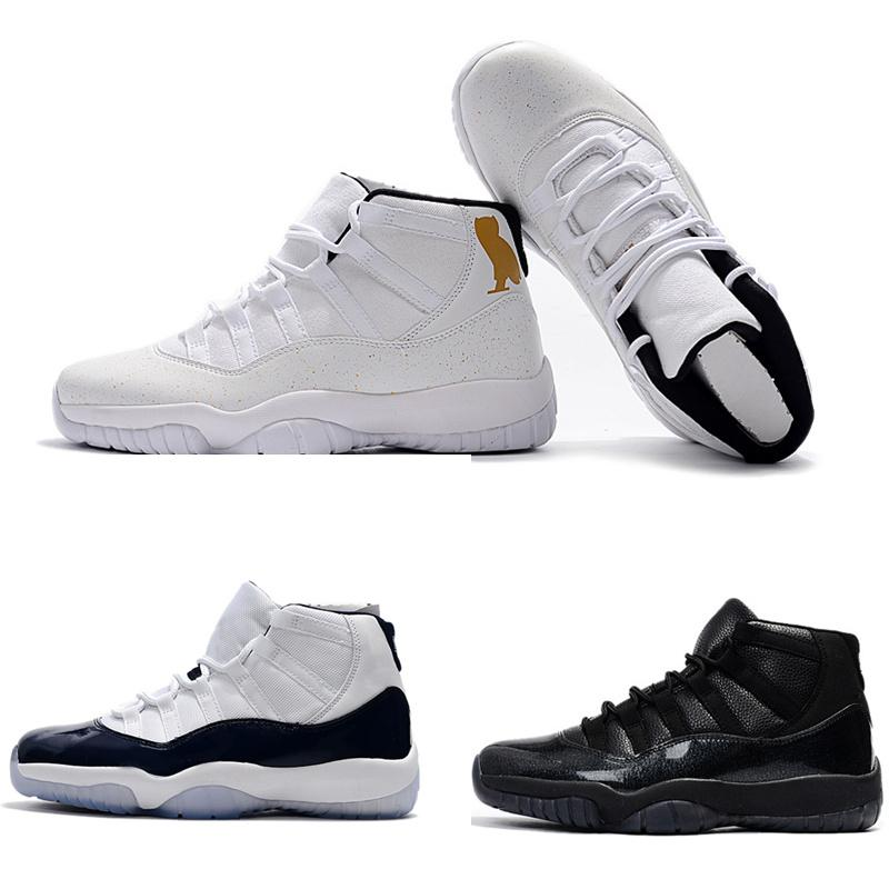 lowest price fb3b0 47688 11s Midnight Navy Mens Basketball Shoes Black Devil White Ovo 11 Outdoor  Athletic Tennis Sneaker Size 41 47 Barkley Shoes Shoes Jordans From ...