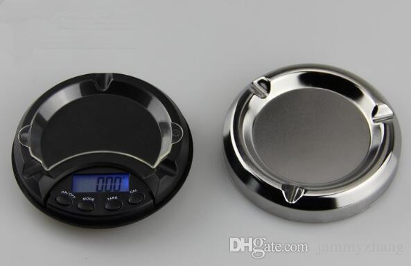 Posacenere elettronico bilancia tascabile gioielli oro diamante bilancia bilancia display LCD con retroilluminazione blu 50 pezzi