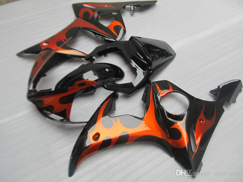 ABS plastic fairing kit for Yamaha YZF R6 03 04 05 red black fairings set YZF R6 2003 2004 2005 OT28