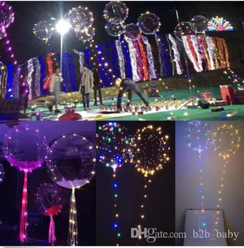 54e7aff2ea3 Compre Globo Transparente Globos De Luz LED Boda Luces De Fiesta De Navidad  Decoración LED Luces De Cadena Globo De 3 Metros Boda De Cadena KKA3181 A   2.11 ...