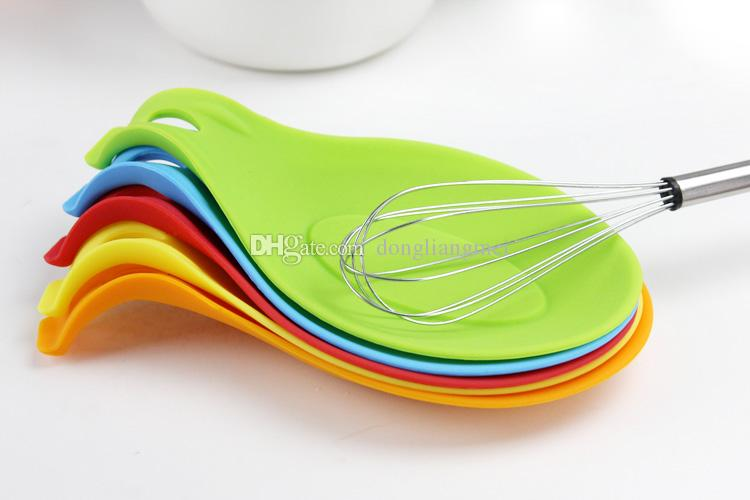 Silicone Cutlery Holder Spoon Holder Mats Dinnerware Resting Pad ...