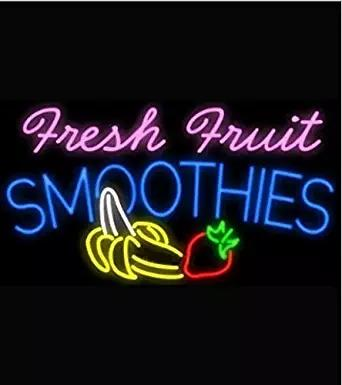 Fresh Fruit Smoothies Logo Neon Signs Beer Bar Pub Neon Light Sign Handicrafted Real Glass Tube19x15