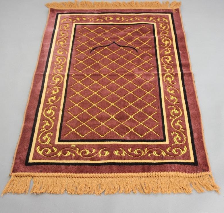 Velvet Flocked Jacquard Islamic Muslim Prayer Mat Blanket Salat Musallah Prayer  Rug Tapis Tapete Banheiro Islamic Praying Carpet Outdoor Furniture ...